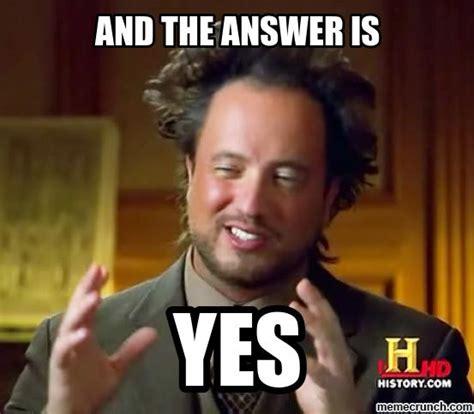 Meme Yes - alien guy yes