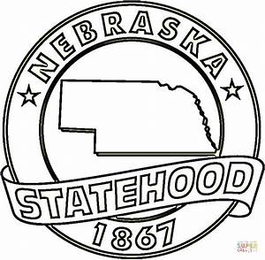Nebraska State Coloring Page Free Printable Coloring Pages