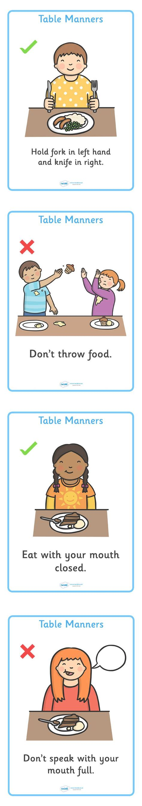 manners theme preschool twinkl resources gt gt table manners display chart 808
