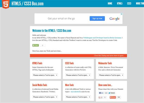 css template box text image top 7 free html5 template generators