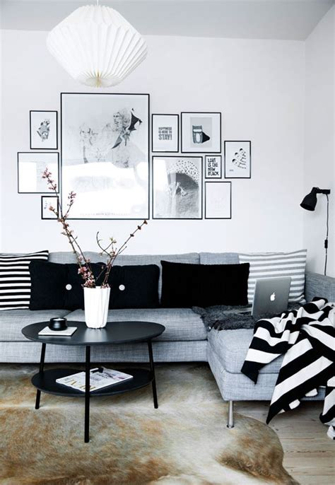 Living Room Decor Ideas Black And White by Simple Black And White Apartment Design Attractor Home