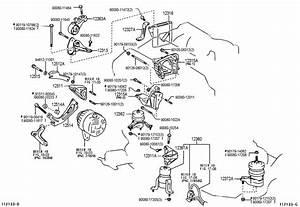 2002 Toyota Insulator  Engine Mounting  Lh For Transverse