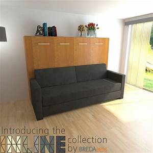 9 best inline collection by bredabeds images on pinterest With horizontal murphy bed with sofa