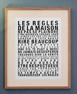Affiche Les Regles De La Maison : image of affiche les regles de la maison petit format mots lettres et alphabets ~ Melissatoandfro.com Idées de Décoration
