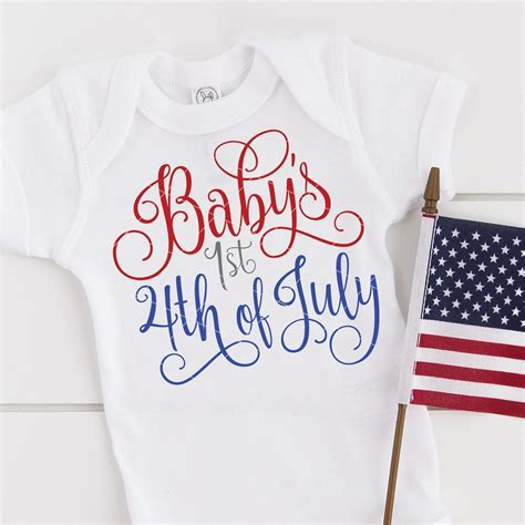 5 out of 5 stars. Baby's First 4th of July SVG File - Independence Day ...