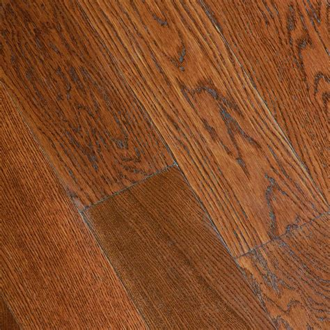 gunstock oak hardwood home legend gunstock oak 3 8 in thick x 5 in wide x varying length click lock hardwood