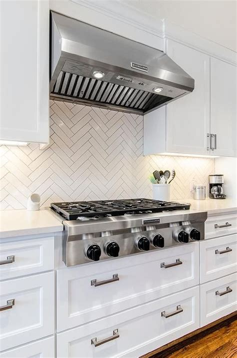 shaker kitchen tiles chic white kitchen features white shaker cabinets paired 2175