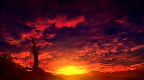 Anime Sunset Wallpaper - original anime landscape sunset sky cloud beautiful