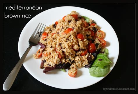 Recipe Easy Mediterranean Brown Rice  Style Wise