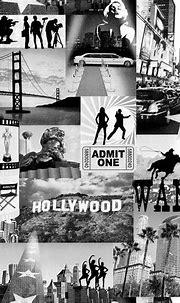 Buy Muriva Hollywood City Wallpaper Black / White