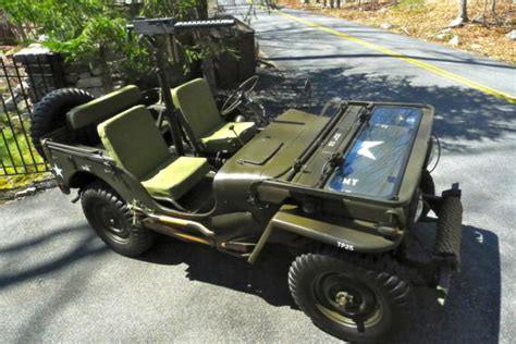 military jeep with gun 1950 willys m38 army jeep fully restored w 30 caliber
