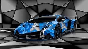 Red Lamborghini Veneno Wallpaper - image #398