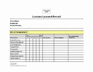 lessons learned template peerpex With lessons learned template pmbok