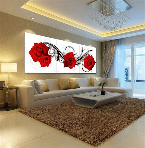 picture oil painting roses flower living room bedroom home