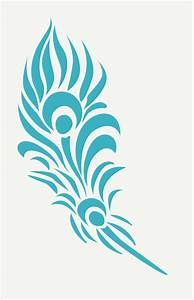 Feather Stencil Feather 4 Sizes Available By Superiorstencils