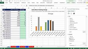 Excel Magic Trick 1221  Dynamic Chart To Plot Daily Changes In Meter Readings
