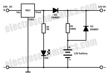 Different Voltage Battery Backup Circuit Electrical