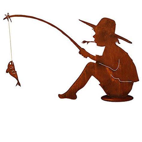fische für teich kaufen rost angler mit und fisch metall