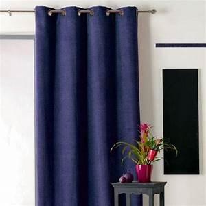 Double Rideau Bleu : rideau et voilage bleu eminza ~ Teatrodelosmanantiales.com Idées de Décoration