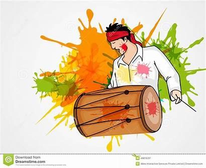Dhol Holi Clipart Festival Tasha Happy Drum