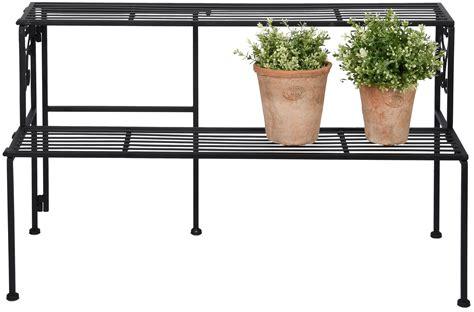 Folding Etagere by Two Shelf Folding 201 Tag 232 Re Iron Black Esschert Design Usa