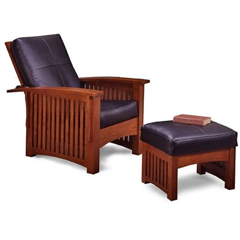 Mission Style Chair With Ottoman