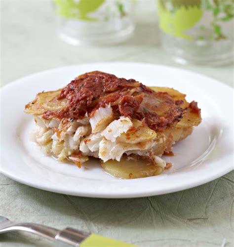 cuisiner de la morue gratin de morue et pommes de terre à la tomate les meilleures recettes de cuisine d 39 ôdélices