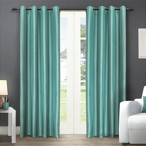108 Curtains And Drapes by Chatra 54 In W X 108 In L Faux Silk Grommet Top Curtain