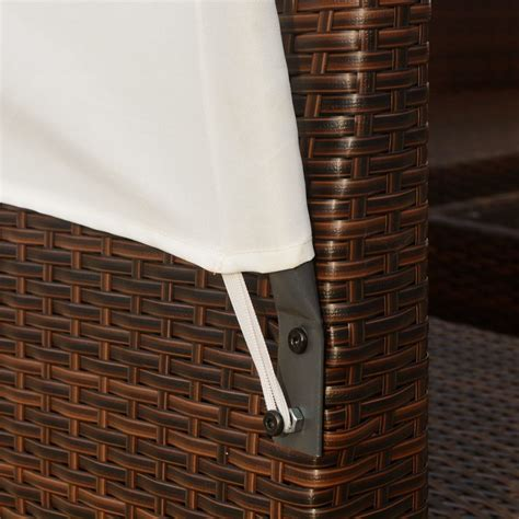 vidaxl patio rattan wicker outdoor garden sofa table furniture set brownblack ebay