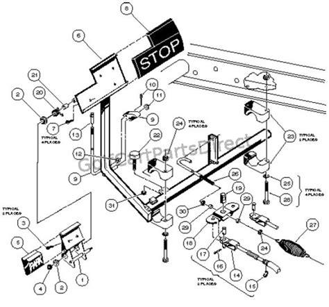 1988 Club Car Part Diagram by Brake Pedal Cable Assembly 4 Wheel Braking