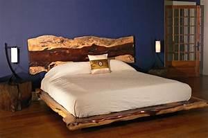 Lit En Bois : exotic live edge wood furniture ~ Melissatoandfro.com Idées de Décoration