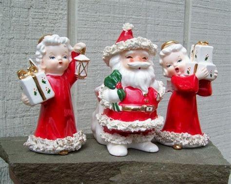 vintage napco spaghetti santa figurines planter holder ebay
