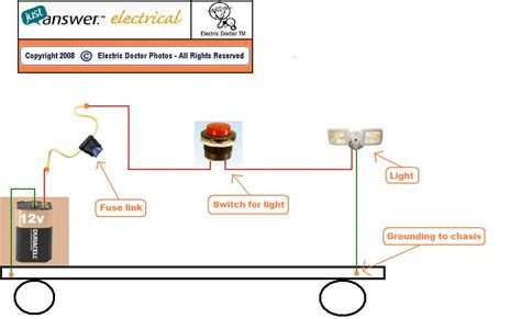 12 Volt Light Wiring Diagram by How To Wire A 12 Volt Tractor Light On Aunit That Has