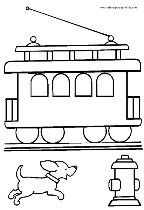 train coloring pages birthday printable