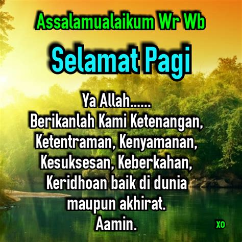 ucapan selamat pagi islami eko margiyanto