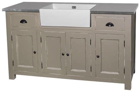 meuble d evier cuisine acheter meuble évier timbre offert pin massif zinc