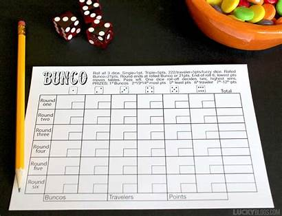 Bunco Score Printable Sheet Rules Sheets Tally