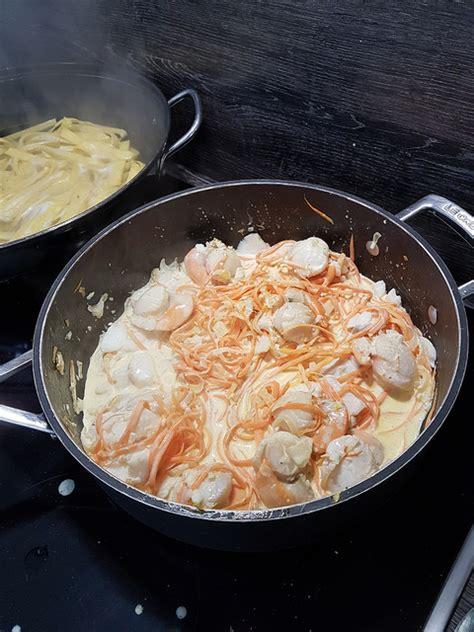cuisiner les st jacques fraiches poêlée de cabillaud et jacques ma p 39 tite cuisine