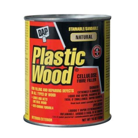 dap 16 oz natural plastic wood solvent wood filler 21506