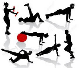 Exercise Clip Art Silhouette People