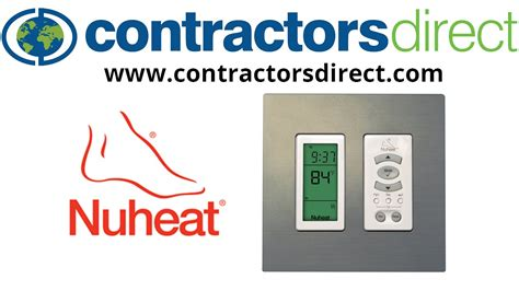 nuheat harmony floor heating programmable thermostat
