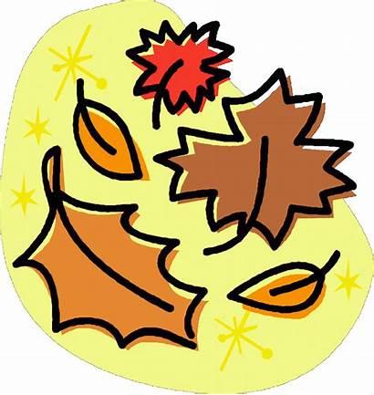 September Clip Clipart Fall Leaves Falling Word