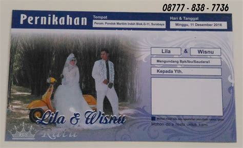 undangan pernikahan desain amplop facebook unik ratu