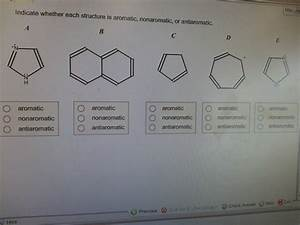 Indicate Wheter Each Structure Is Aromatic Nonaromatic Or