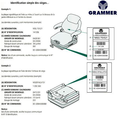 grammer siege siege grammer maximo professional siège grammer pneumatique
