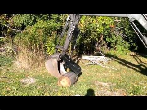 showtime fabrication hydraulic excavator thumb  volvo ec mini backhoe youtube