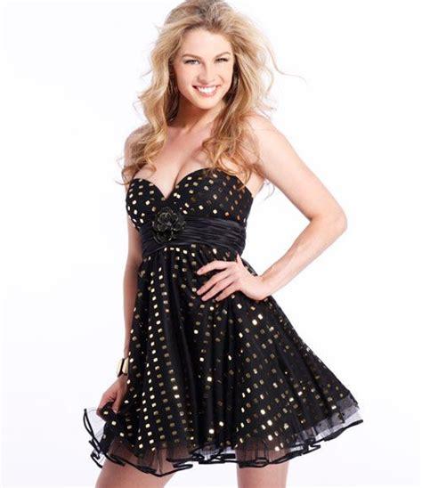 Gold over black short cocktail Clarisse prom dress 1303 # ...