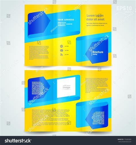 Yellow Brochure Design Vector Millions Vectors Brochure Design Template Vector Leaflet Blue Arrow Ribbon