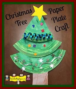 christmas, tree, paper, plate, craft