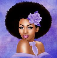 Natural Black Woman Art